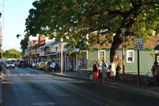 Lahaina's quaint streets are lined with small shops that appeal to tourists